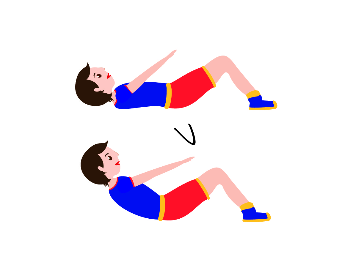 circuito de entrenamiento con abdominales