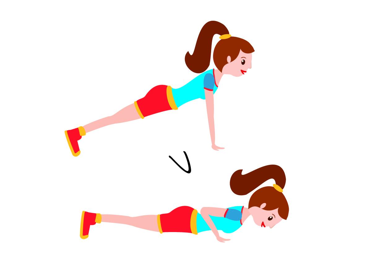 circuito de entremiento con flexiones