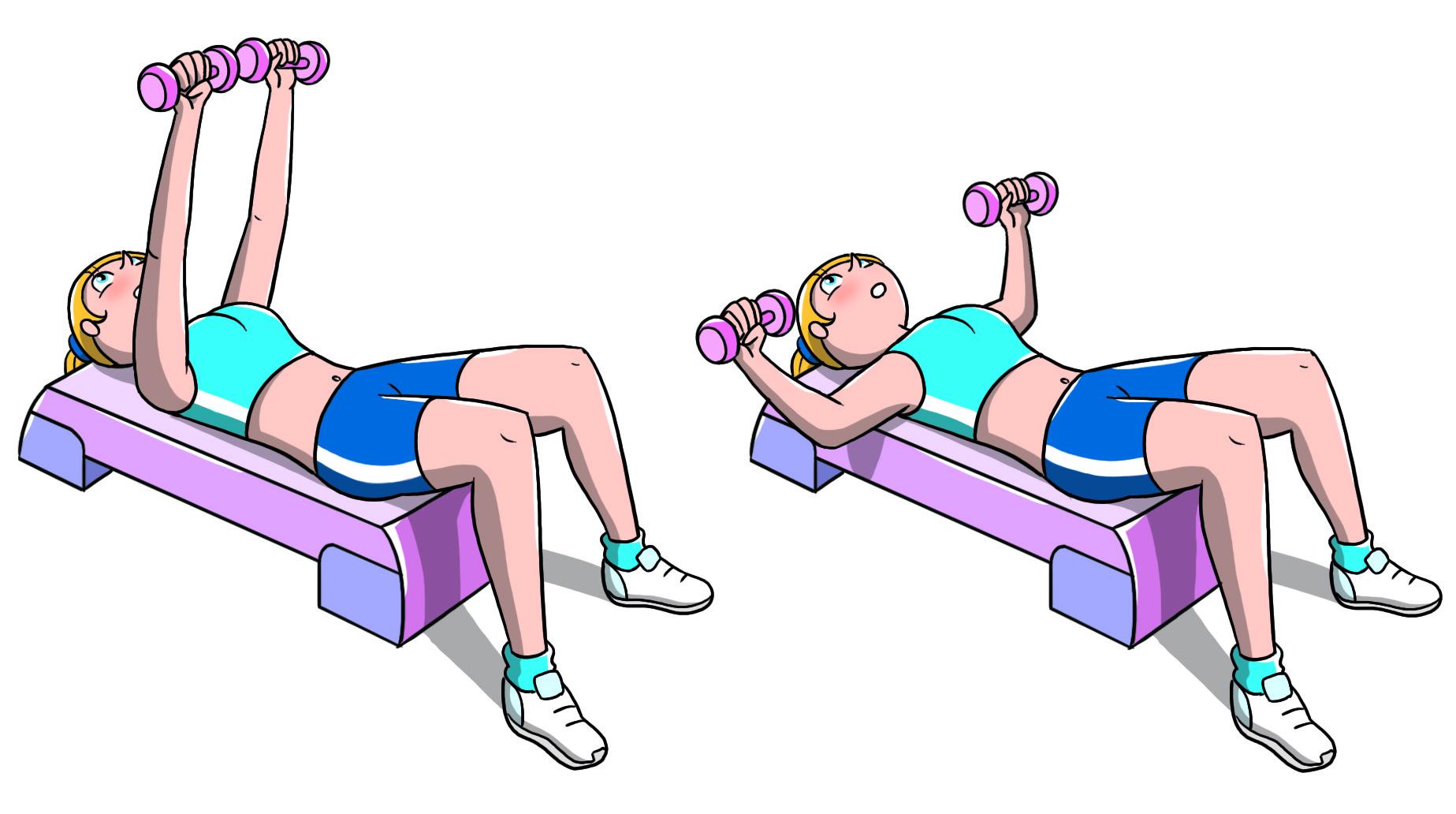 entrenamiento de pecho con step